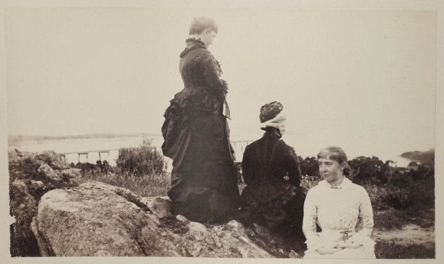 Image courtesy of the Massachusetts Historical Society. This photograph by Clover Adams, taken August 8, 1883, was the image that first caught my attention. I'd seen this sort of composition before, in European and American paintings, but I'd not seen figures arranged this way in a nineteenth-century photograph. For more of Clover's photographs, see the online collection at http://www.masshist.org/features/clover-adams.