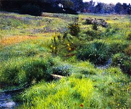 http://commons.wikimedia.org/wiki/File%3AThe_Brook_at_Medfield_(1889)_by_Dennis_Miller_Bunker.jpg