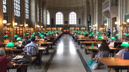 McKim Building, Boston Public Library, 9 June 2015. Photograph by Genevieve Janvrin.