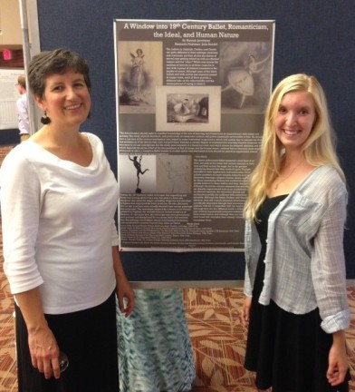 Julia Randel and Hannah Jacobsma at the Summer Research Celebration, Hope College, September 2015.  Photograph by Natalie Dykstra.