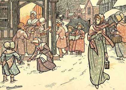 Vintage Christmas Illustration, Public Domain, No Date